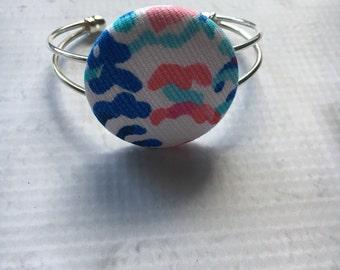 Preppy Bracelet, Fabric Bracelet, Preppy Inspired Adjustable Bracelet, Preppy Fabric Bracelet, Adjustable Size Bracelet, Preppy Jewelry.