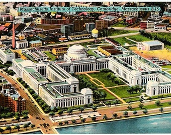 Vintage Massachusetts Postcard - Massachusetts Institute of Technology (Unused)