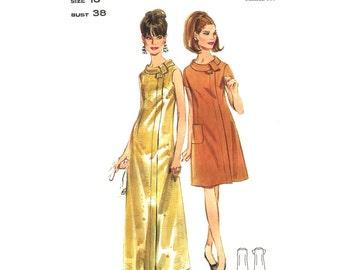 1960s Dress & Maxi Dress Pattern Butterick 4641 Evening Dress Shaped Collar Bust 38 Womens Sewing Pattern