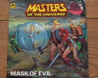 vintage 1984 book Masters Of the Universe Mask of Evil  children boy girl