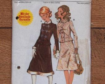 vintage Burda pattern 5 0104 misses jacket and skirt nip uncut sz 34 & 36