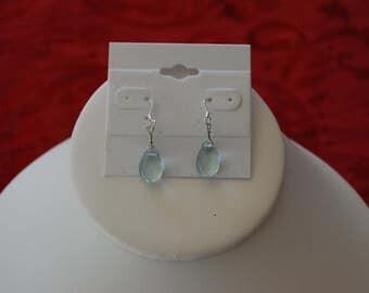 Aquamarine Teardrop Earrings