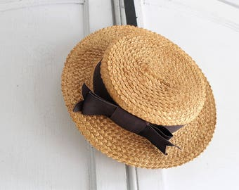 20s vintage straw boater womens   straw hat