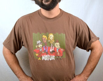 Vintage 90s No Doubt Punk Rock Tee Shirt Brown Tshirt