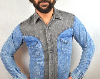 Great Denim Wrangler Pearl Snap Western Shirt - 15 1/2 - 34