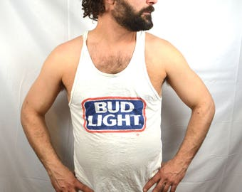 Vintage 1980s 80s Bud Light Tank Top