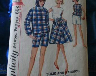 1960s Simplicity pattern 5836 women's 5 piece summer ensemble