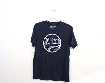 CIRCLE Print. Sustainable Tee. Bamboo Tshirt. Mens Hiker Tshirt. Explorer Tshirt. Gifts for Dad.  Mountain Tee Pnw BC Tshirt Vancouver Tee
