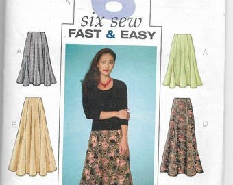 Uncut, Misses Size 20-24, Sewing Pattern, Butterick 4136, Woman, Fast and Easy Skirt, Six Sew Easy, Flounce, Below Knee, Ankle, Plus Size