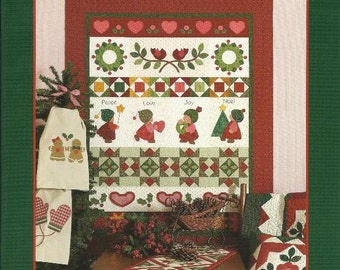 SUGARPLUM CHRISTMAS Quilt Pattern Book from Brandywine Design - Quilts, Table Runners, Penny Mats, Tea Towel Designs, Pillows - Brand New