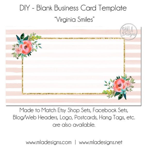 free blank business card templates - floral business card template virginia smiles floral