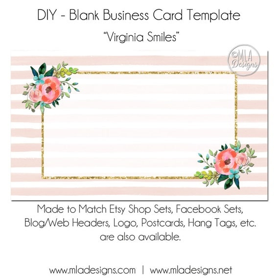 floral business card template virginia smiles floral. Black Bedroom Furniture Sets. Home Design Ideas