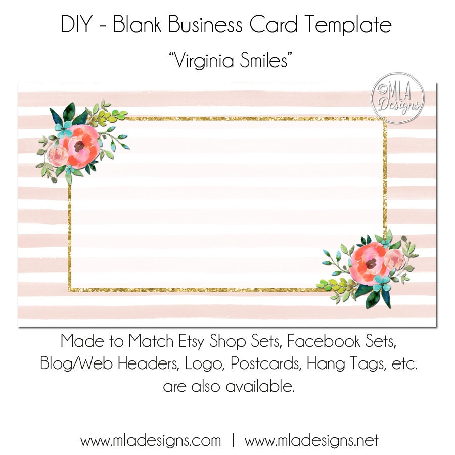 floral business card template - Ideal.vistalist.co