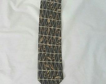 Robert Stock Silk Blue and Khaki Neck Tie