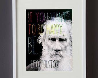 Tolstoy Quote Embroidered Photo Wall Art
