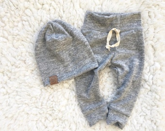 NB-24M brushed knit grey cozy sweats and hat option