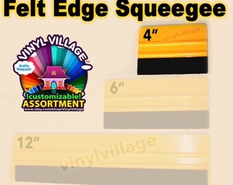 """4"""" Felt Edge Squeegee  adhesive backed Vinyl Appication Tool"""