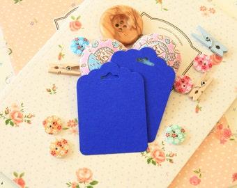 Royal Blue fancy ornate scallop tags