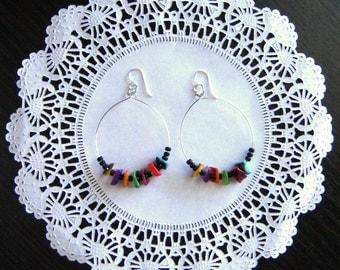 Dangle earrings,unique earrings, statement earrings, boho earrings, bohemian earrings, gift, hoop earrings, drop earrings, black