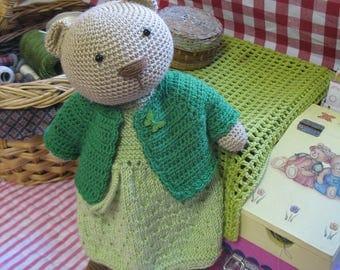 Molly Bear    Lovely crochet girl bear