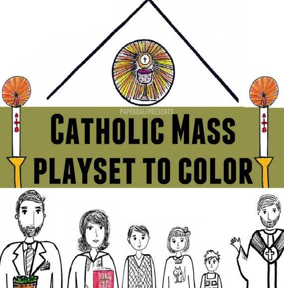 The Catholic Mass Bilingual Playset [Printable]