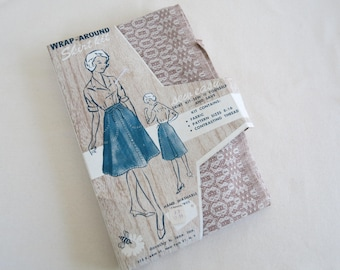 Vintage Sew It Yourself Wrap-Around Skirt Kit - Includes Fabric Pattern and Thread for Wrap Skirt
