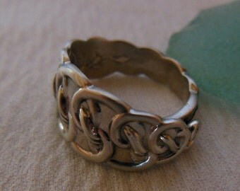Antique Sterling Silver Spoon Ring  Size 5.75