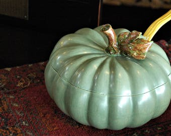 PUMPKIN/TUREEN/LADLE/Home Wares/Country/Cottage/Vintage/Soup/Orange