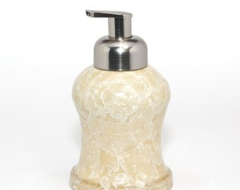 "Crystalline Glaze:  ""Antique Lace""  Foaming Soap dispenser"