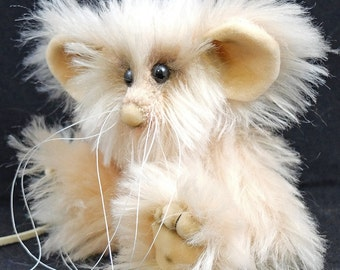 Peach Fizz a 5 inch Traditional Mousebear a collectable OOAK Artist Bear by Bears of Bath
