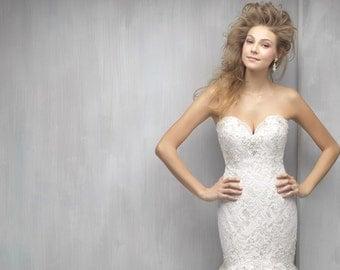 FERN- Swarovski Bridal Earrings- Crystal Drop Earrings- Bridal Earrings- Crystal Earrings- Chandelier Bridal Earrings