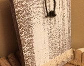 Rustic White Wood Frame Display Photo Stand Farmhouse Bird Lace