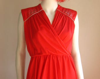 After Six Ronald Joyce 70s 80s Red party dress vintage