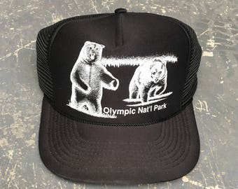 Vintage Olympic National Park Trucker Hat