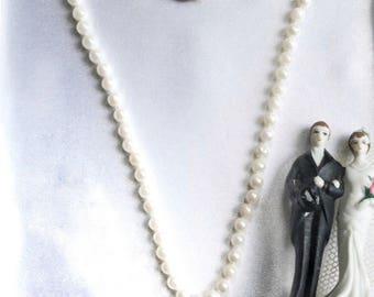 14K Gold Pearl Necklace Bridal Wedding Classic Fine Jewelry