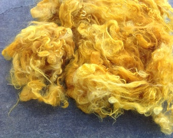 SUNFLOWERS - HANDDYED mohair Locks