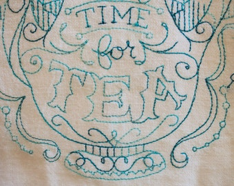 Proceeds To Charity <o>  There's Always Room For Tea Kitchen Flour Sack Towel