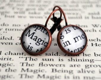 The Magic In Me Earrings, Book Jewellery, Word Earrings, Secret Garden, Recovery, Believe In Yourself