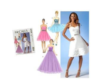 Misses Evening Dress Pattern, Prom Dress Pattern, Bridesmaid Dress Pattern, Formal Dress Pattern, Bridal Dress McCall's M7049 Sewing Pattern