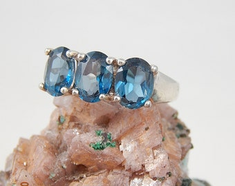 Blue Spinel Sterling Silver Ring