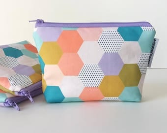 simple pouch -- MP spring hexies