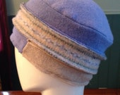OOAK ladies handcrafted wool hat