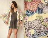 1970's Vintage Shibori Pattern Japanese Kimono Duster Jacket Haori