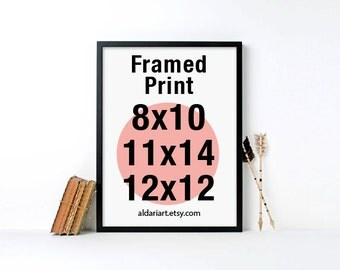 Framed Print - Choose any print from the shop to be framed - Modern Black Wood Frame - 8x10, 11x14, 12x12 - Custom framed Art - Adari Art