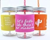 Bachelorette Party Cup, Cinco De Mayo Bachelorette,  Fiesta, Bachelorette Favors, Birthday Fiesta Party Cups, Cup Wrap