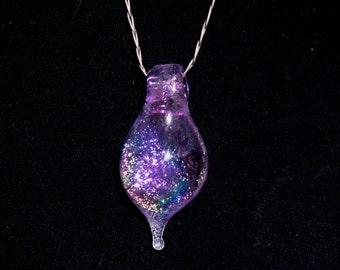 Purple Dichroic Glass Necklace