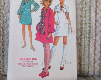 Simplicity Young Junior/Teens Size 9/10 Dress in Two Lengths Pattern 8805