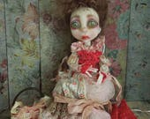 MerryWeather and Twin Babies shabby Victorian Gothic Art Doll OOAK LuLusApple