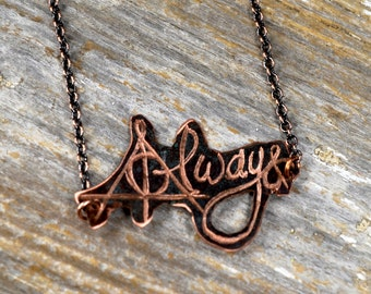 Harry Potter Always Signature Necklace / HP Always Signature Jewelry / Always Handwriting Necklace / Handwriting Always: Hand4
