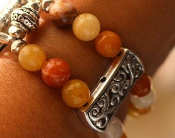 Yellow Jade Apple Watch Bracelet, Watch Band Bracelet for Apple Watch, Watch Bracelet, Watchband